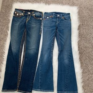 Bundle Of 2 true religion girls jeans